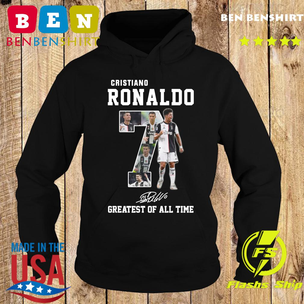 Cristiano Ronaldo 7 Greatest Of All Time Signature Shirt Hoodie