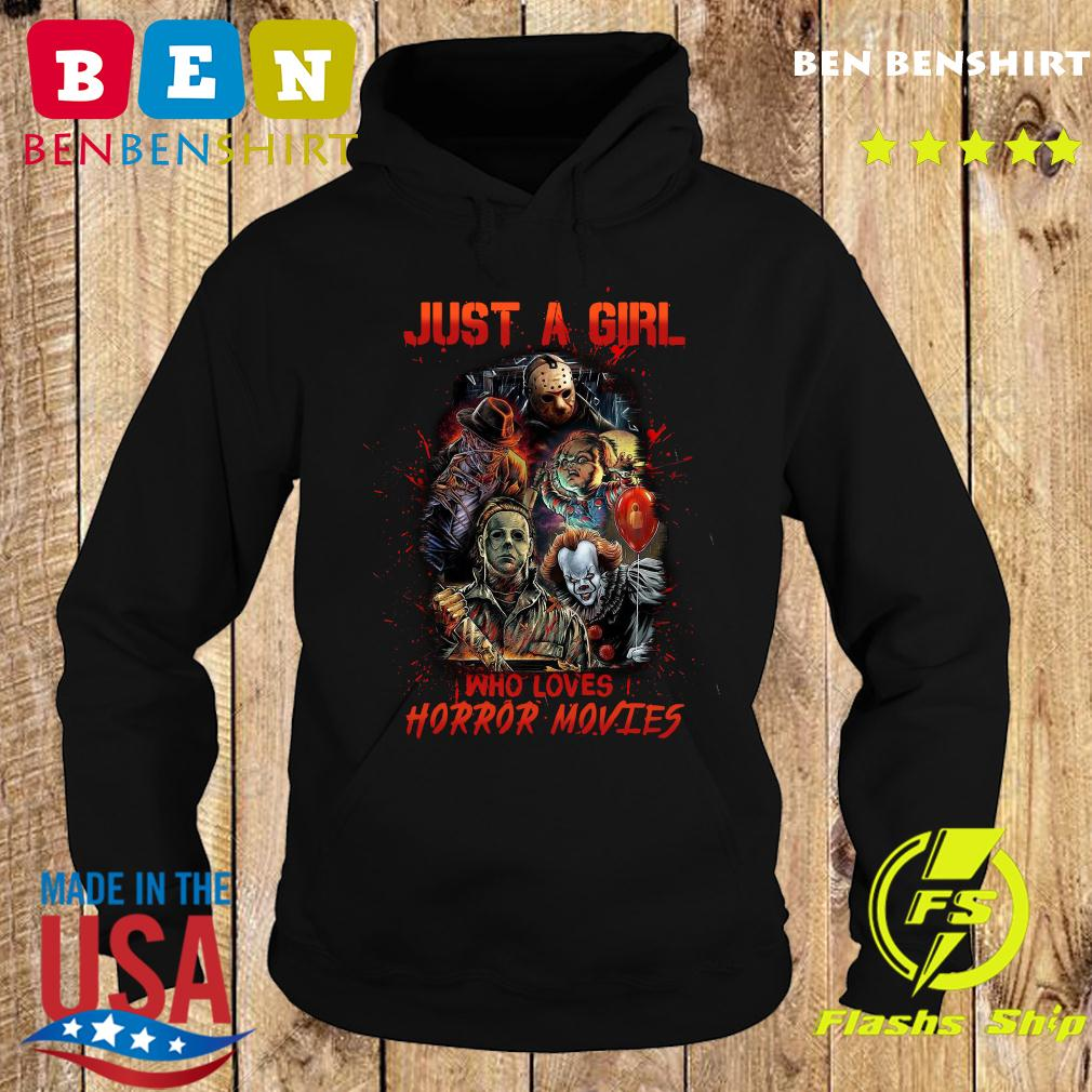 Just A Girl Who Loves Horror Movies Halloween Shirt Hoodie