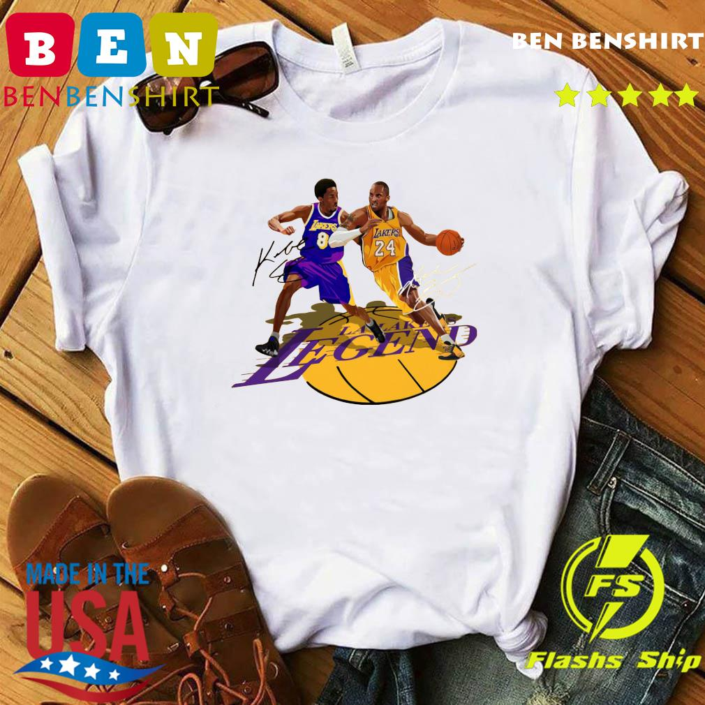 Los Angeles Lakers Legend Kobe Bryant Signatures Shirt