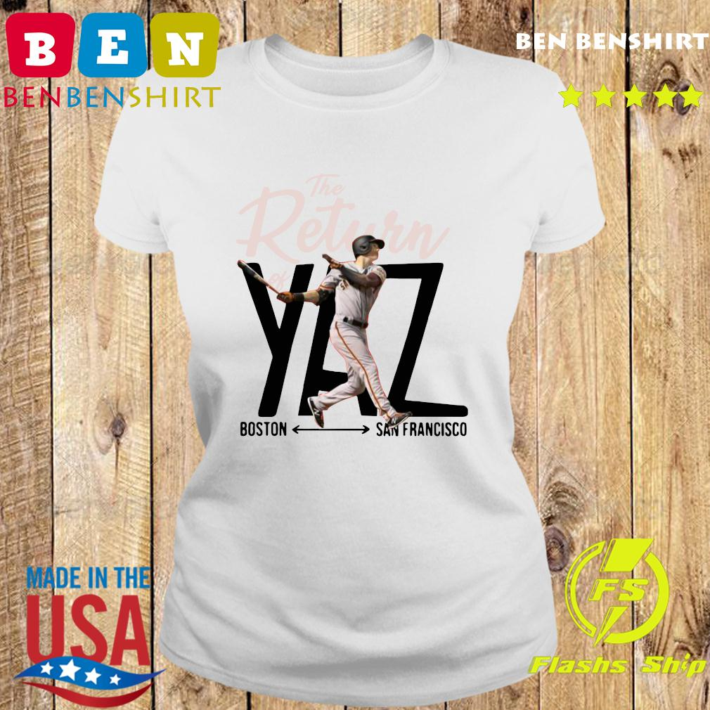 Mike Yastrzemski Yaz Boston San Francisco Shirt Ladies tee
