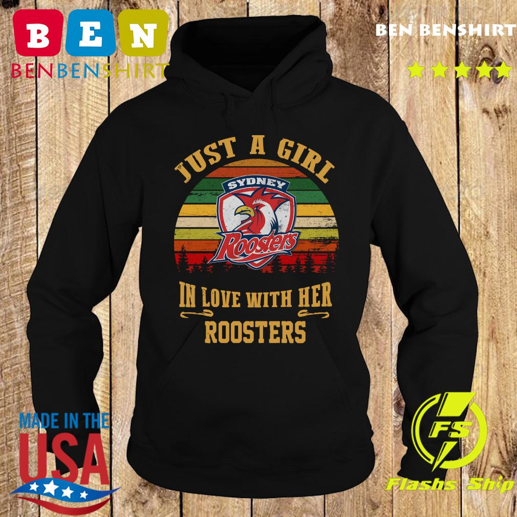 Sydney Roosters Just A Girl In Love With Her Roosters Vintage Retro Shirt Hoodie