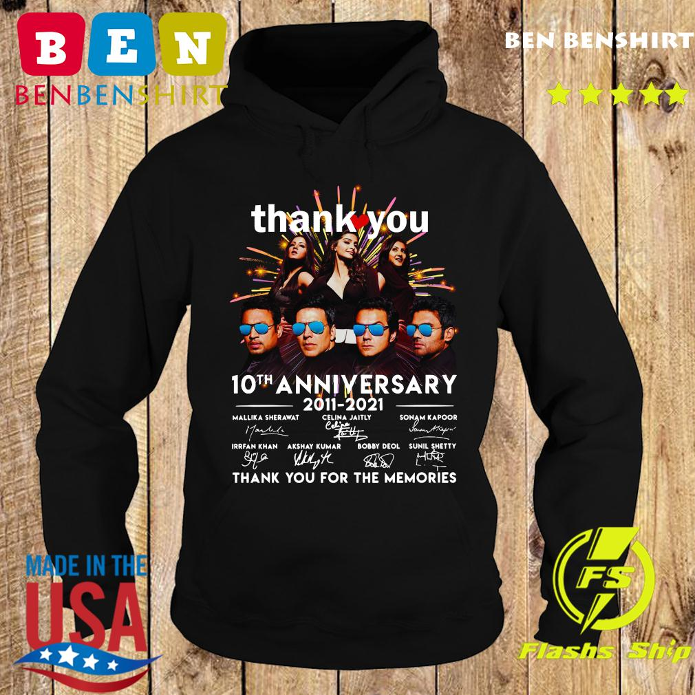 Thank You 10th Anniversary 2011 2021 Thank You For The Memories Signatures Shirt Hoodie