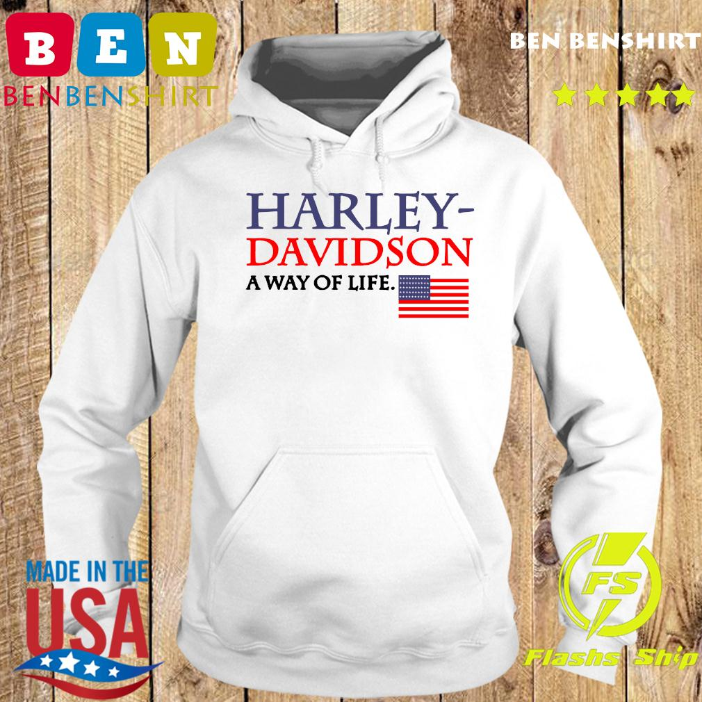 Harley Davidson A Way Of Life American Flag Shirt Hoodie