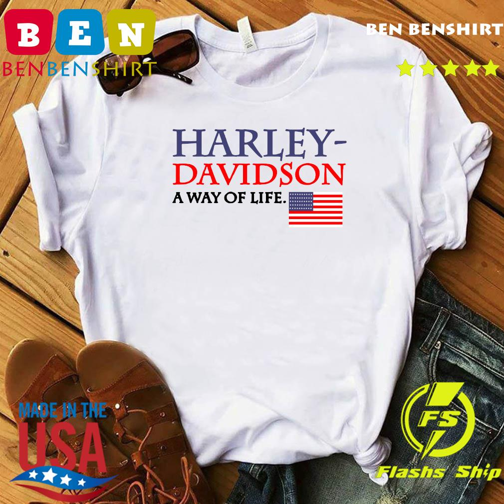 Harley Davidson A Way Of Life American Flag Shirt