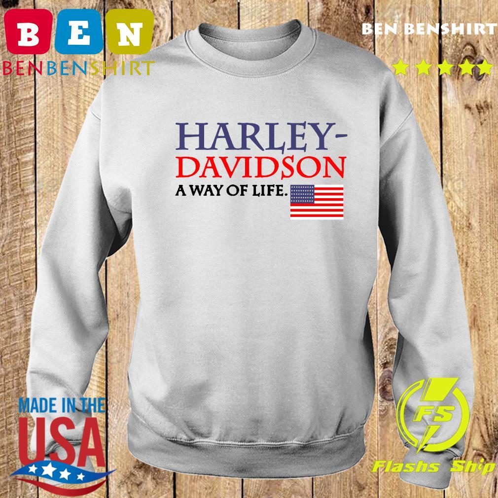 Harley Davidson A Way Of Life American Flag Shirt Sweater