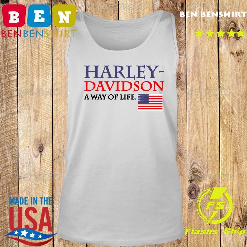 Harley Davidson A Way Of Life American Flag Shirt Tank top