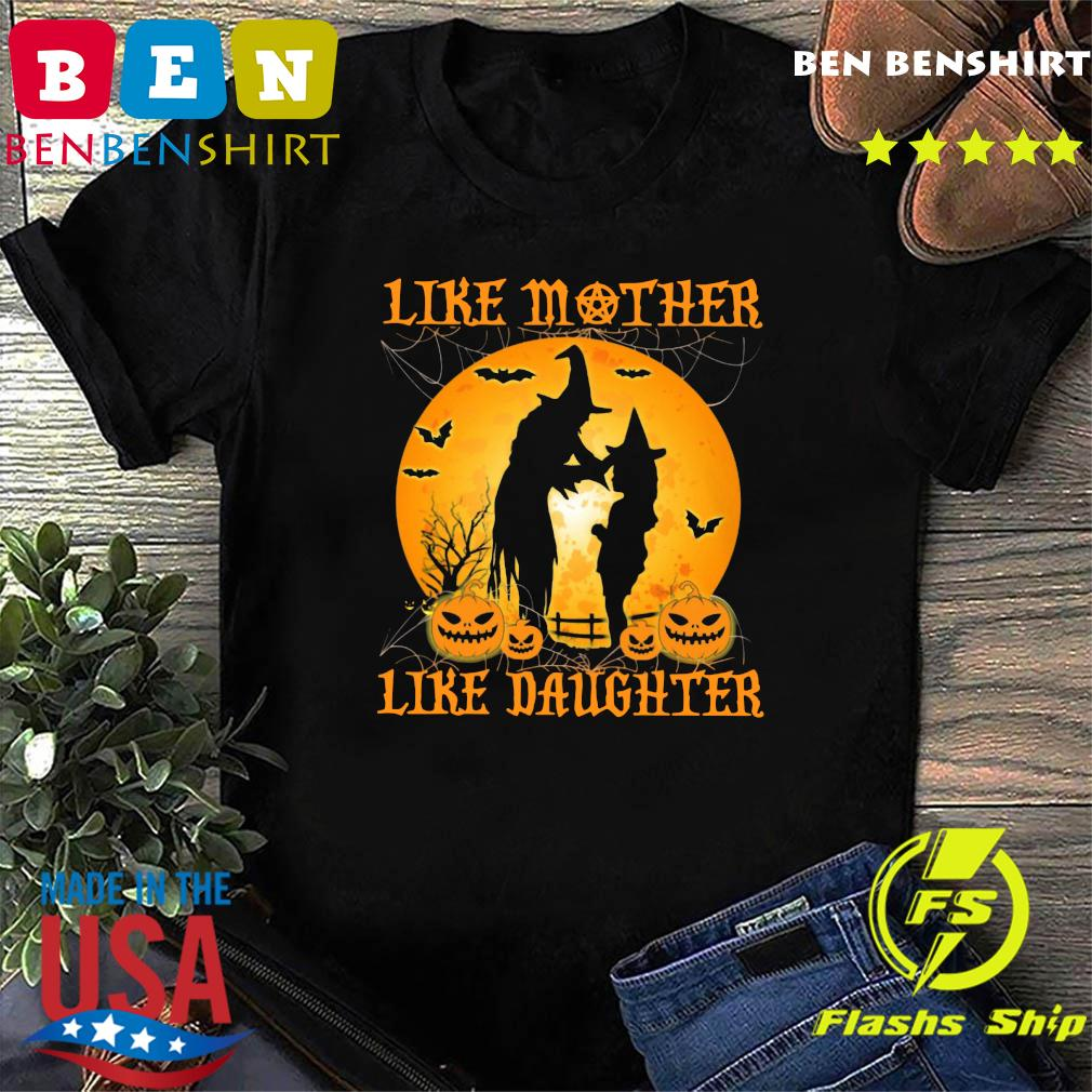 Like Mother Like Daughter Witch Halloween Moon Shirt
