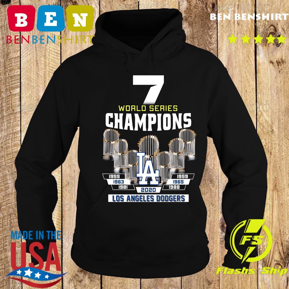 7 World Series Champions 1955 1959 1965 1963 1981 1988 2020 Los Angeles Dodgers Shirt Hoodie