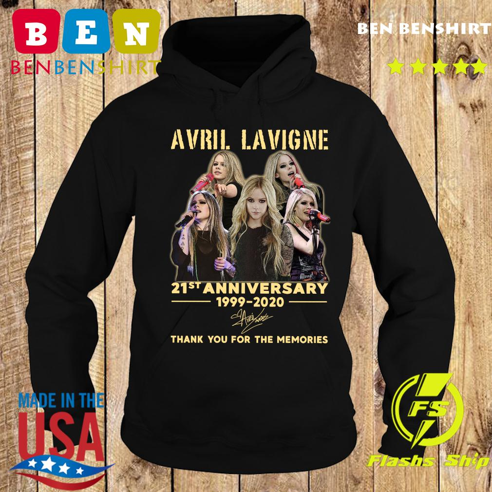 Avril Lavigne 21st Anniversary 1999 2020 Thank You For The Memories Signature Shirt Hoodie