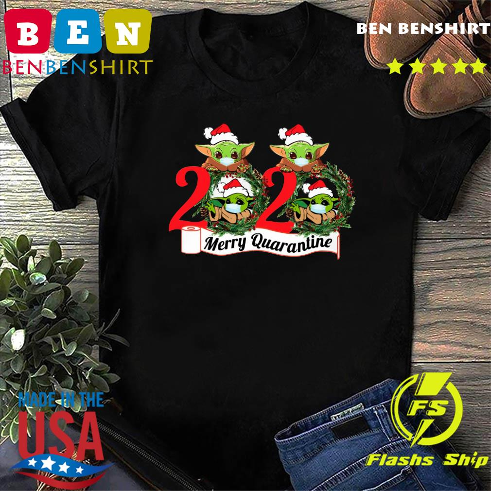 Baby Yoda Face Mask 2020 Merry Quarantine Premium Fit Sweatshirt