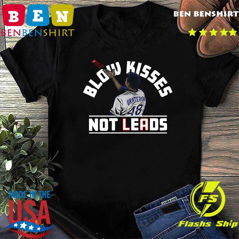 Blow Kisses Not Leads T-Shirt, Los Angeles – MLBPA