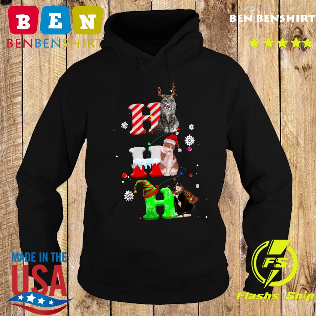Cats Ho Ho Ho Merry Christmas Sweats Hoodie