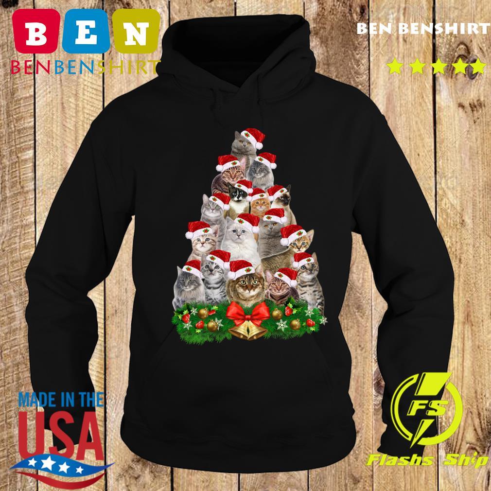 Cats Tree Merry Christmas Sweats Hoodie