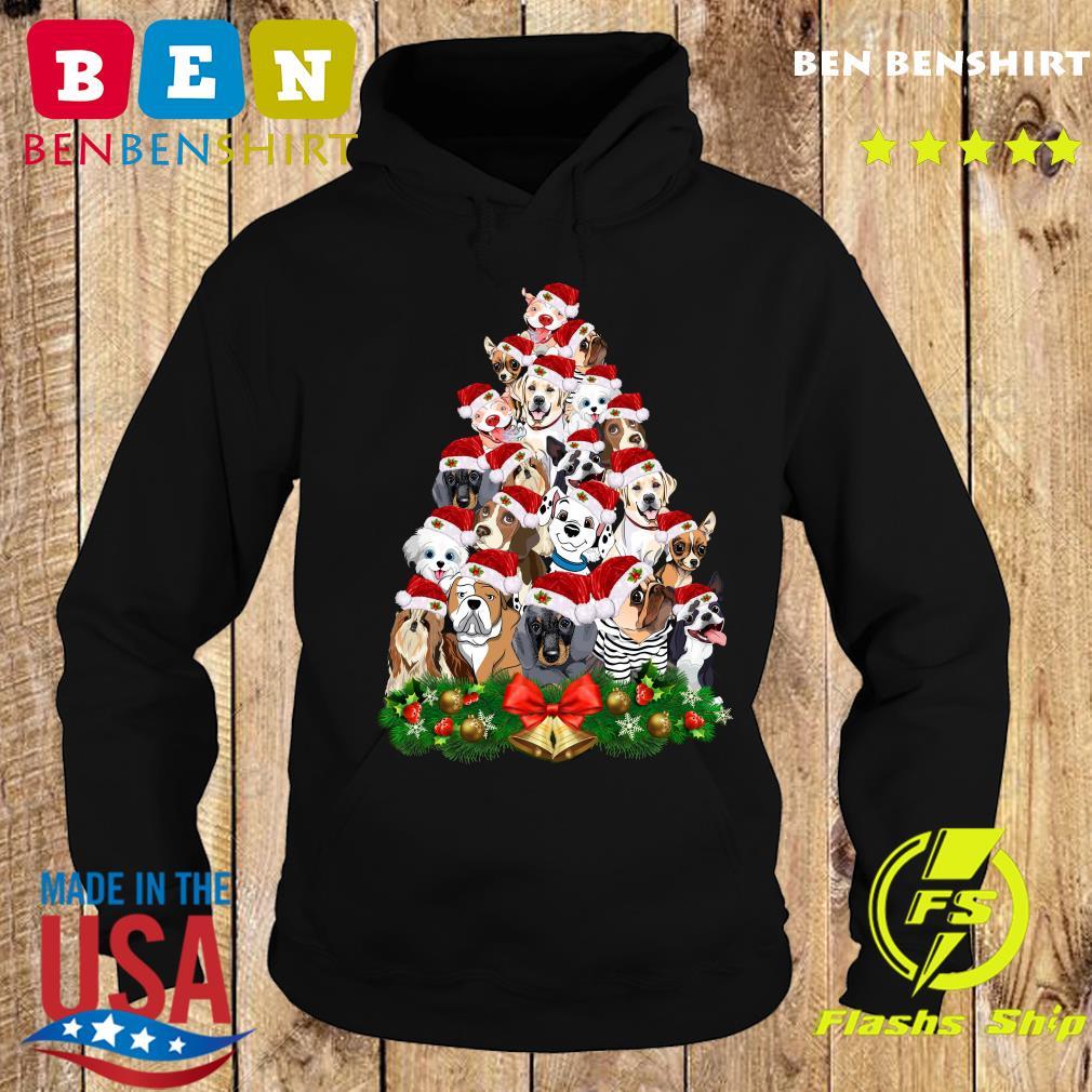 Dogs Tree Merry Christmas Sweats Hoodie
