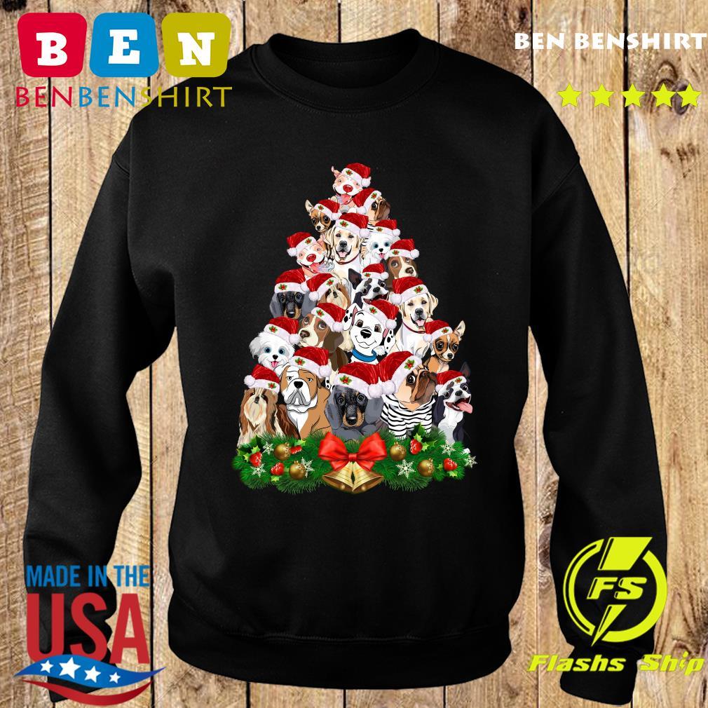 Dogs Tree Merry Christmas Sweatshirt