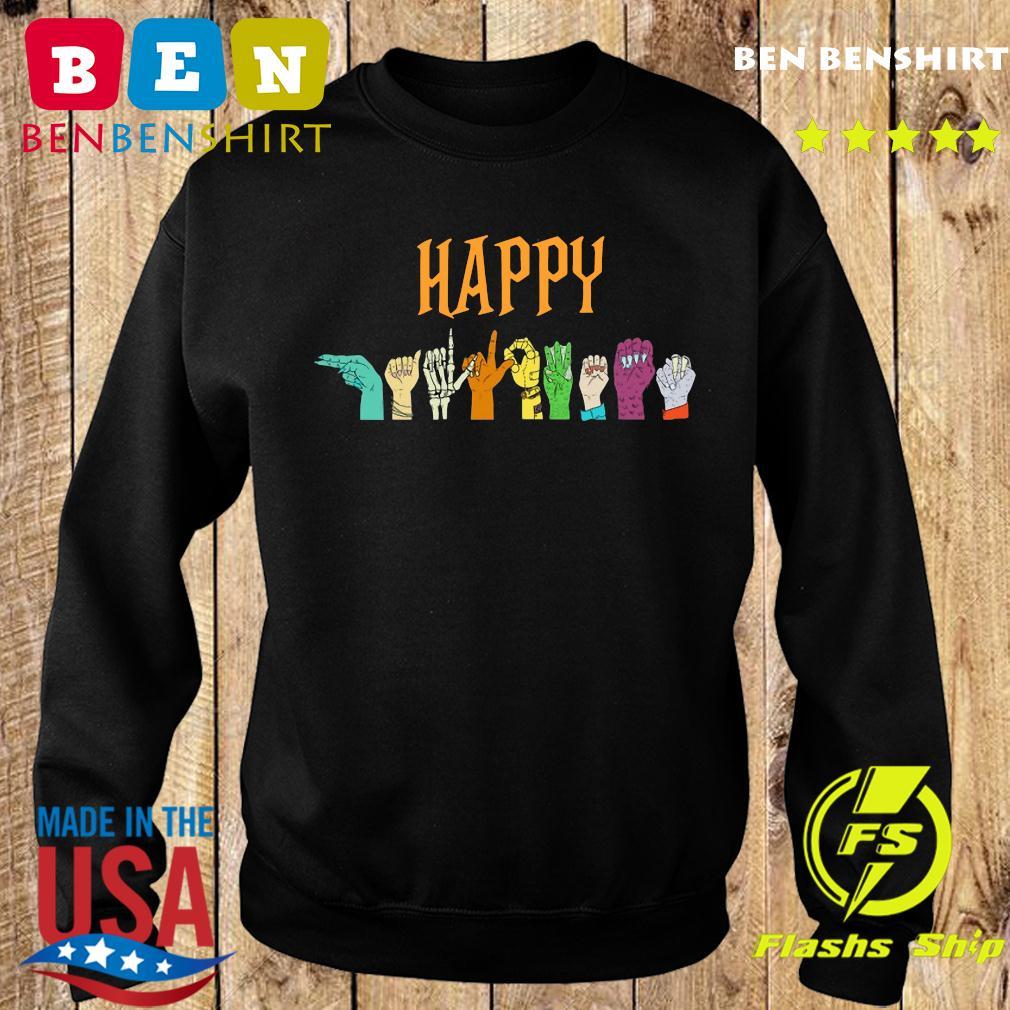 Happy Halloween Hand Sign Sweatshirt