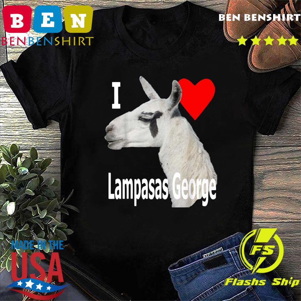 I Love Lampasas George The Llama White Letter T-Shirt