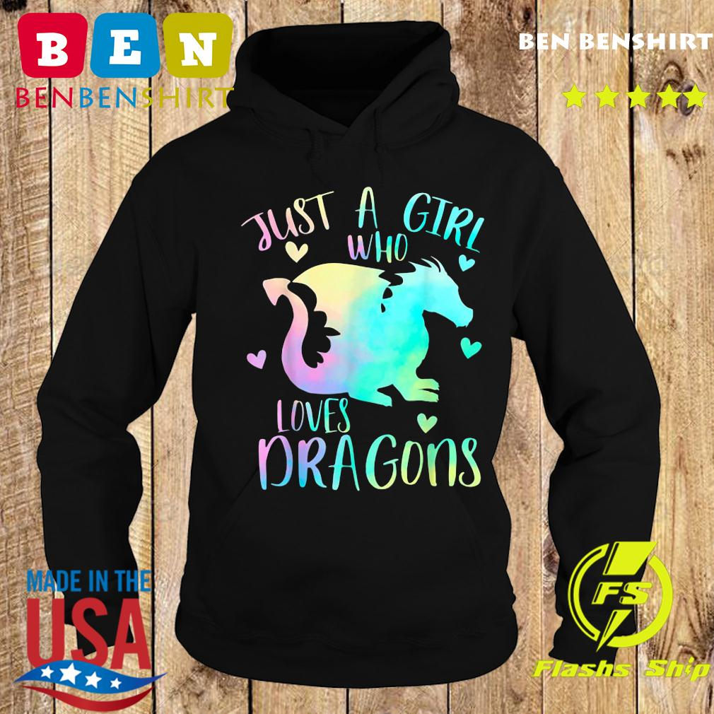 Just a Girl Who Loves Dragons Cute Dragon Teen Girls T-Shirt Hoodie