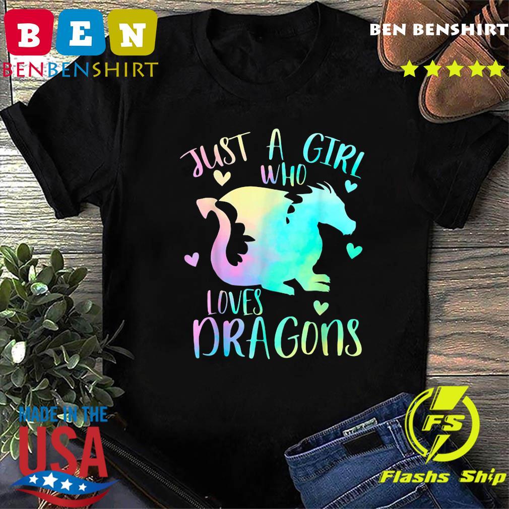 Just a Girl Who Loves Dragons Cute Dragon Teen Girls T-Shirt