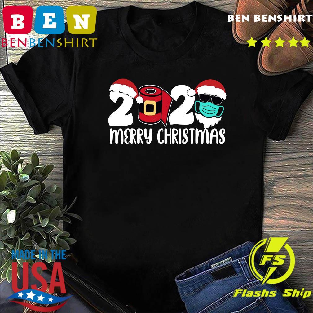 Merry Christmas Santa 2020 Merry Christmas 2020 Quarantine Christmas Santa Face Mask 2020 T