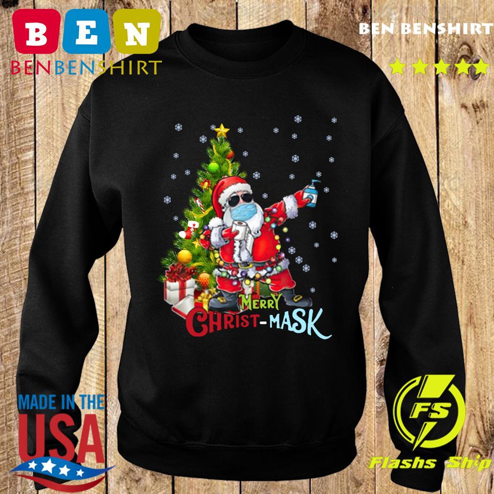 Merry Christmas Santa Dabbing Wearing Mask Sweatshirt