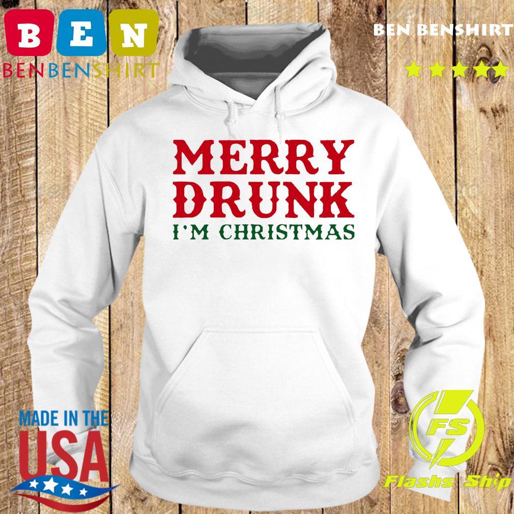 Merry Drunk I'm Christmas Colorblock Sweats Hoodie