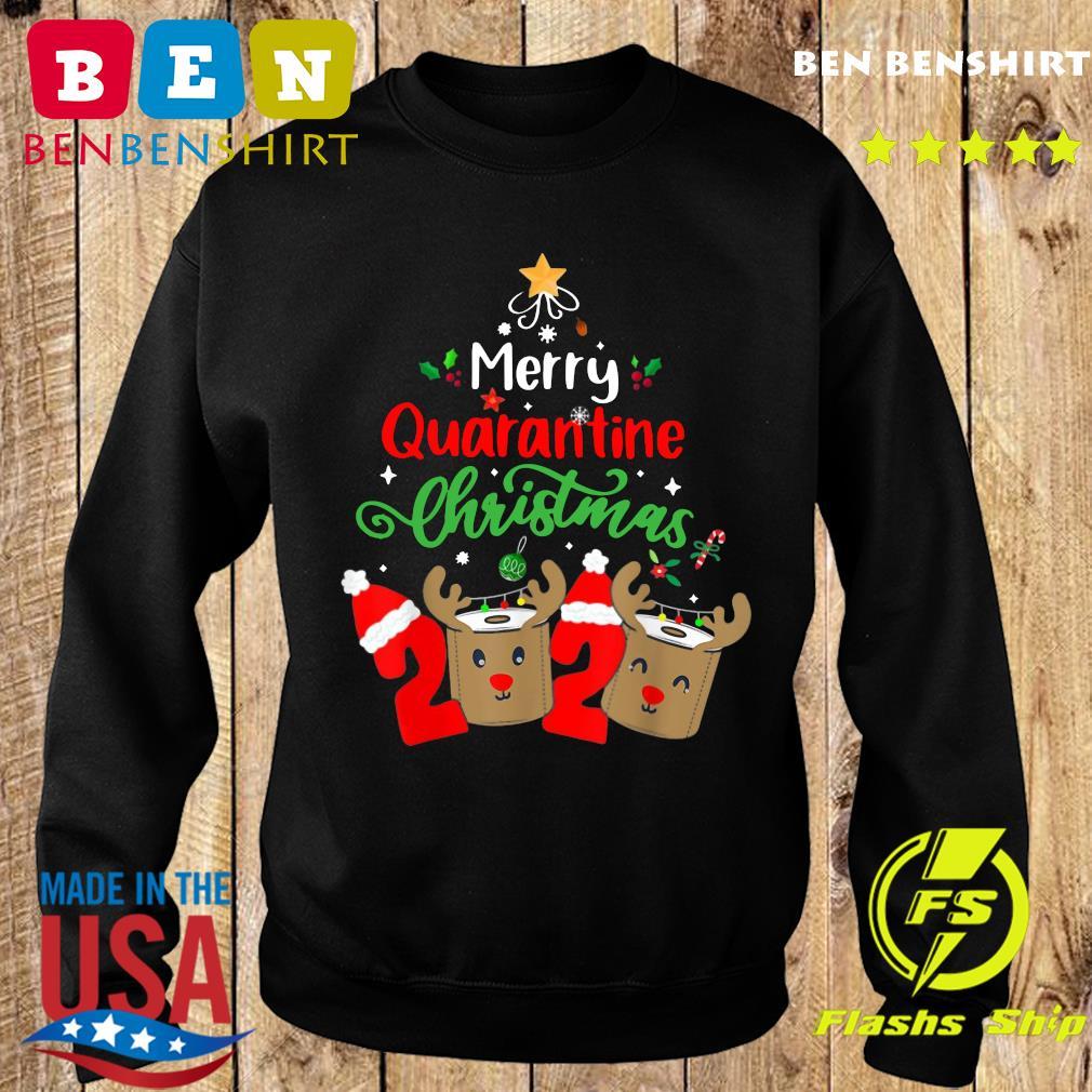 Merry Quarantine Christmas 2020 Xmas Reindeer Toilet Paper Sweatshirt