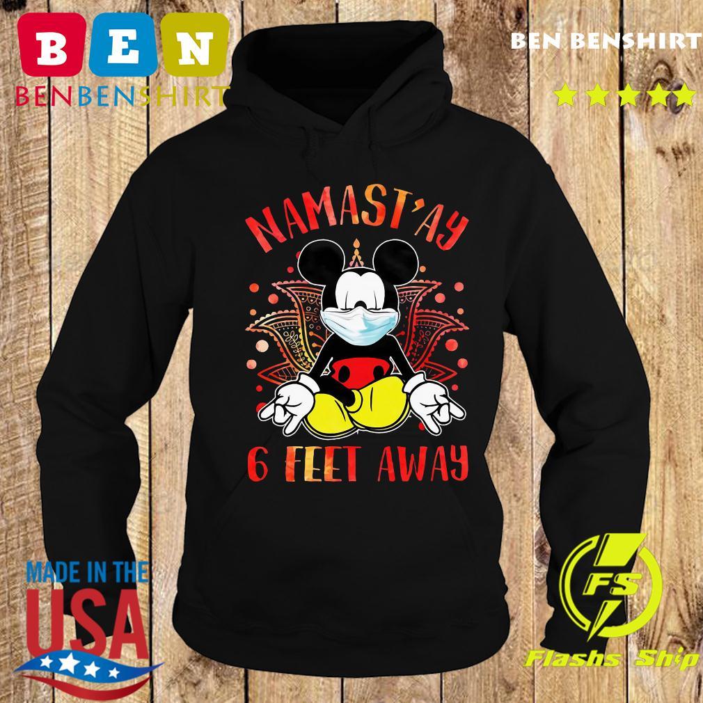 Mickey Mouse Face Mask Yoga Namastay 6 Feet Away Shirt Hoodie