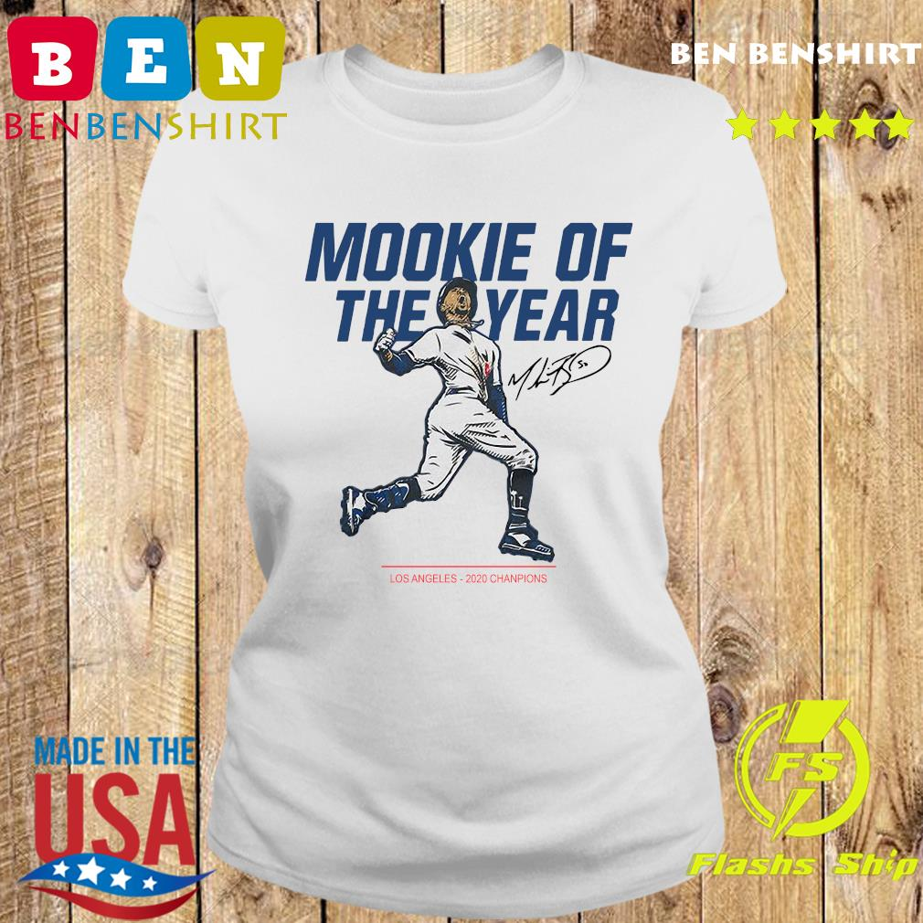 Mookie Of The Year Los Angeles Dodgers 2020 Champions Signature Shirt Ladies tee