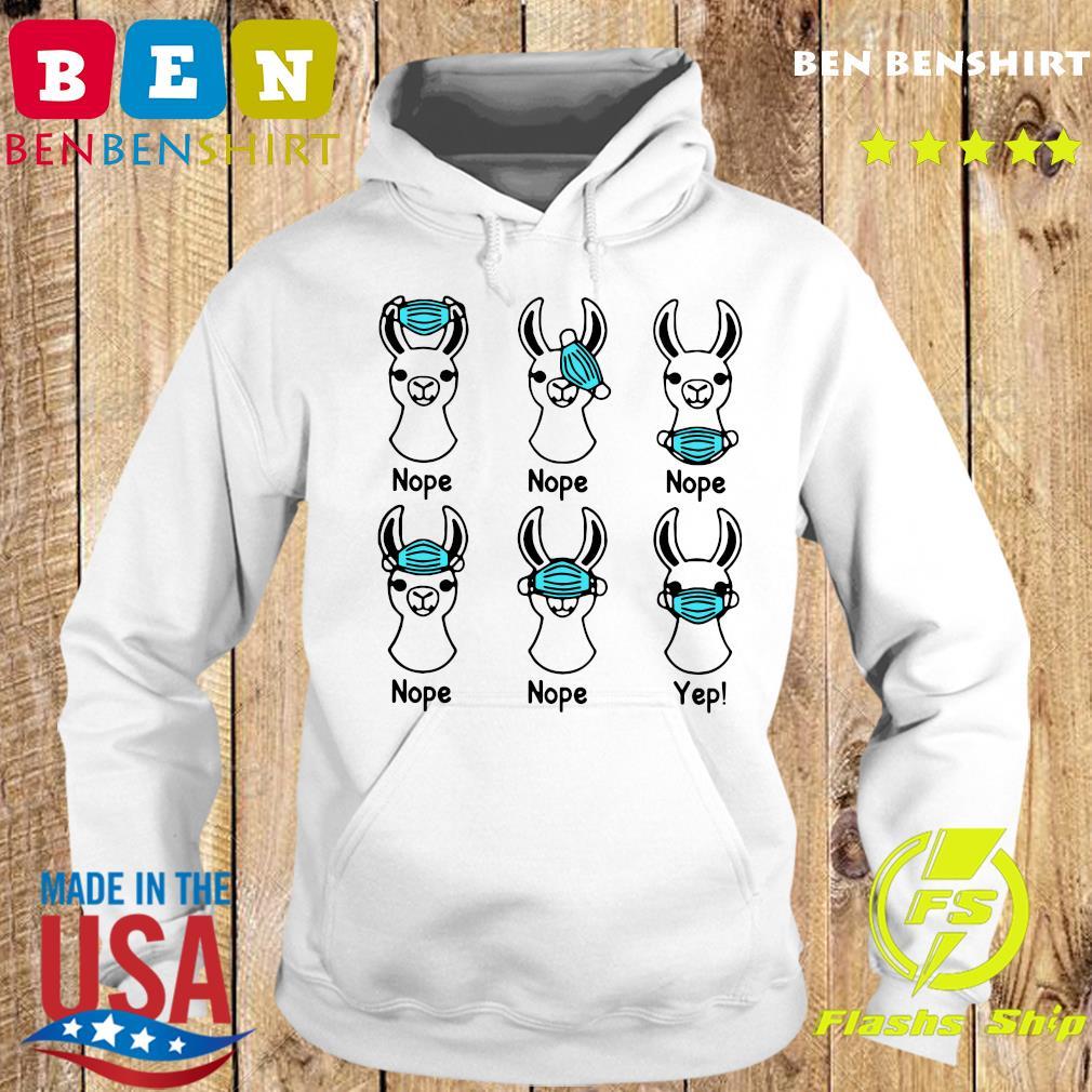 Nurse Life Llama Mask 2020 Nope Nope Yep Shirt Hoodie