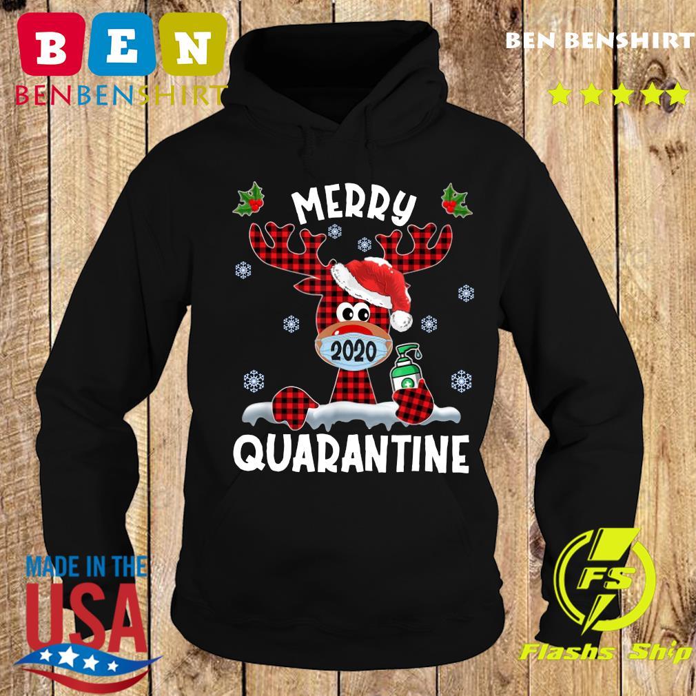 Reindeer Face Mask 2020 Merry Christmas Quarantine Sweats Hoodie