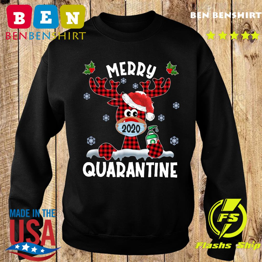 Reindeer Face Mask 2020 Merry Christmas Quarantine Sweatshirt