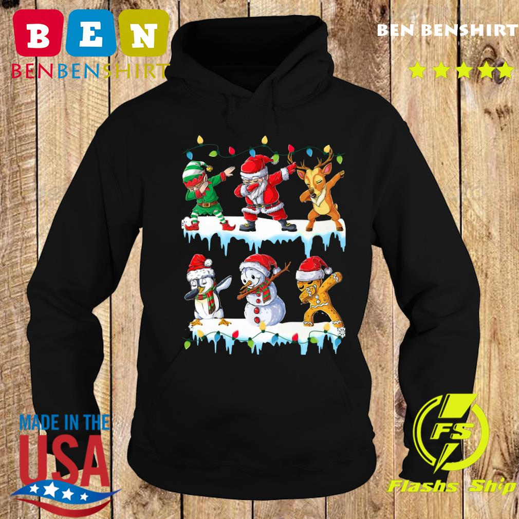 Santa Claus Gingerbread Elf Reindeer Snowman Penguin Dabbing Merry Christmas Sweats Hoodie