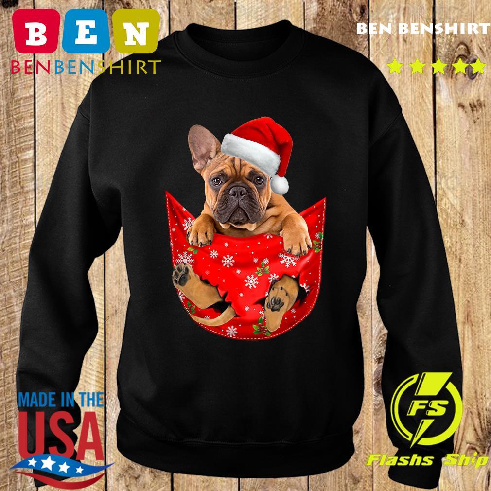 Santa French Bulldog Merry Christmas Sweatshirt