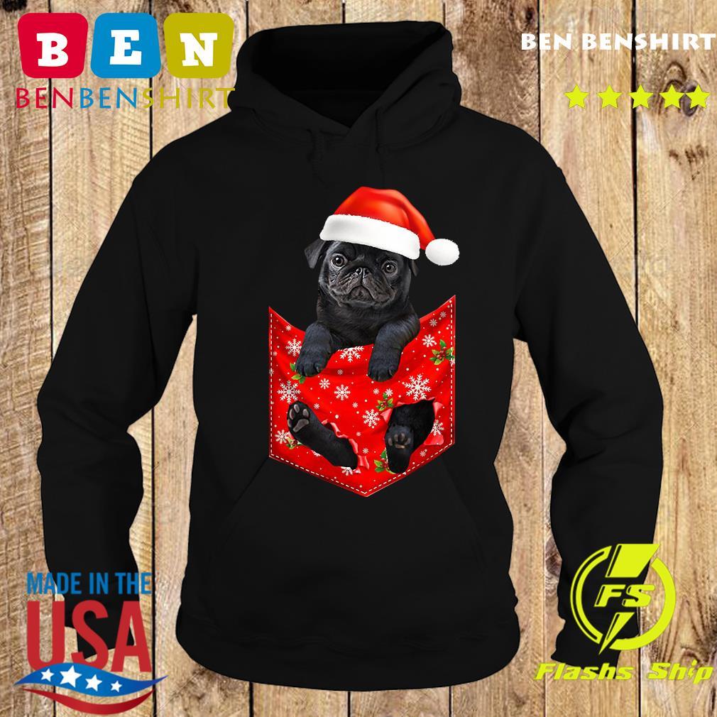 Santa Pug Merry Christmas Sweats Hoodie