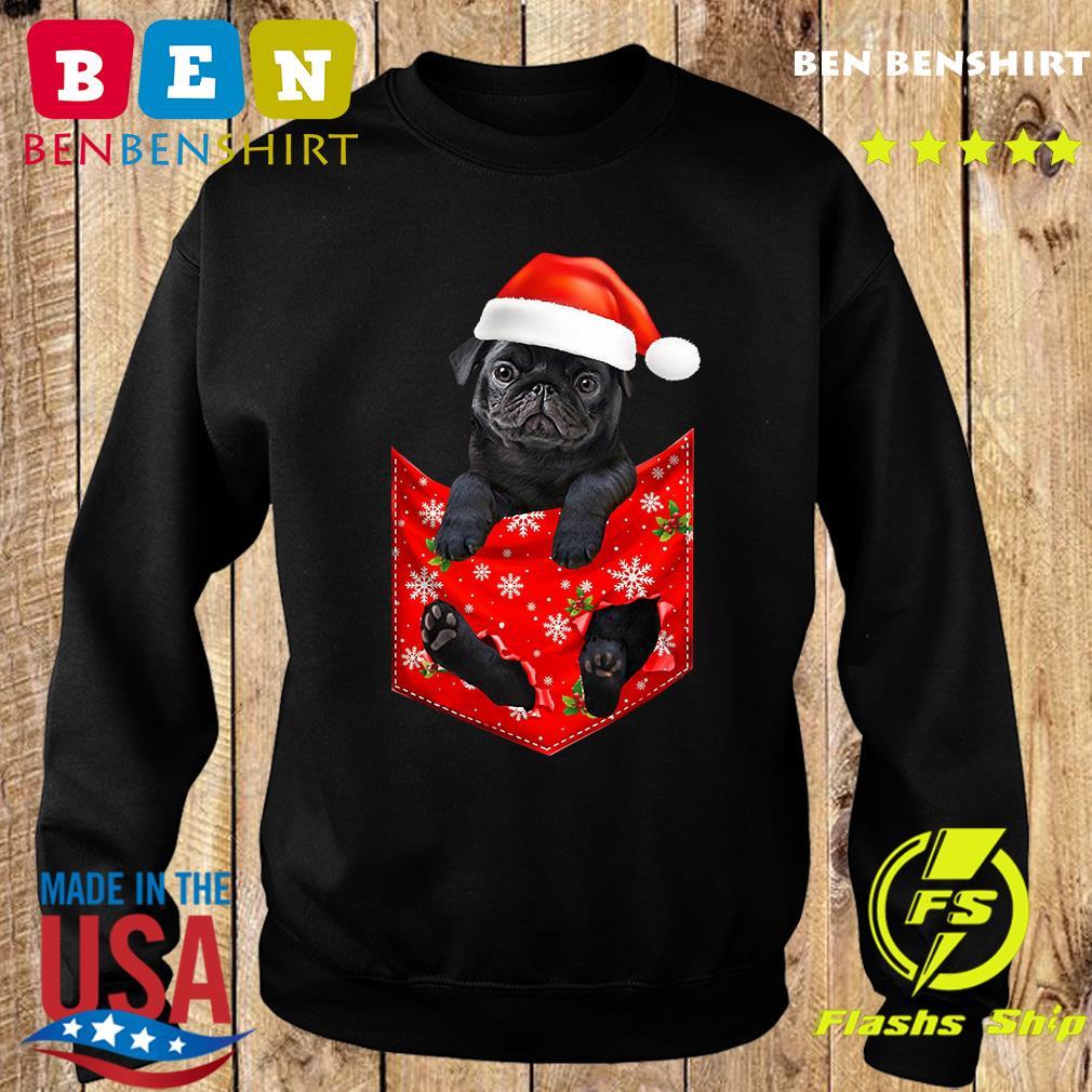 Santa Pug Merry Christmas Sweatshirt