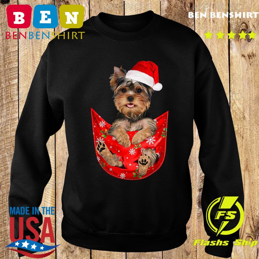 Santa Yorkshire Terrier Merry Christmas Sweatshirt
