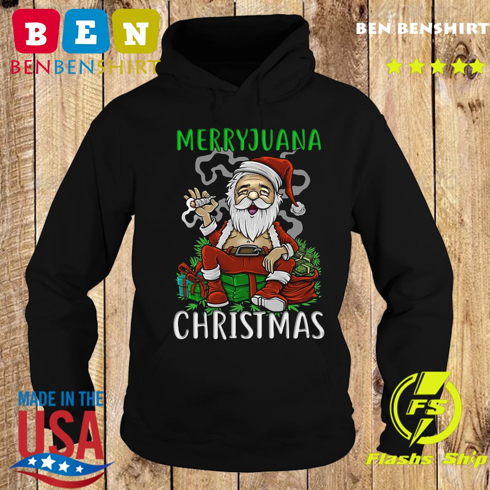 Satan Claus Marijuana Christmas Sweats Hoodie