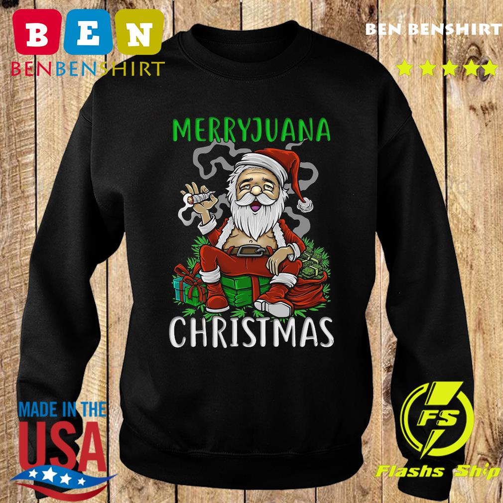 Satan Claus Marijuana Christmas Sweatshirt