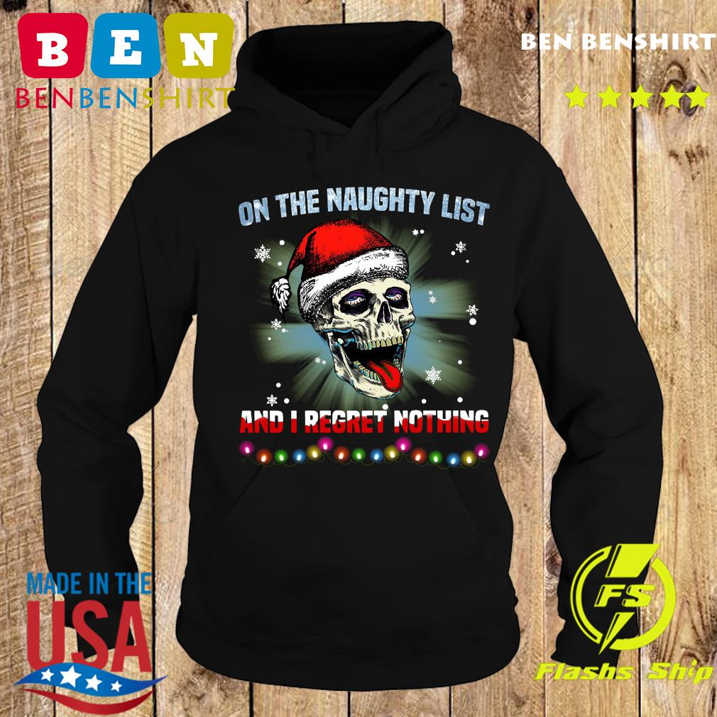 Satan Skull On The Naughty List And I Regret Nothing Sweats Hoodie