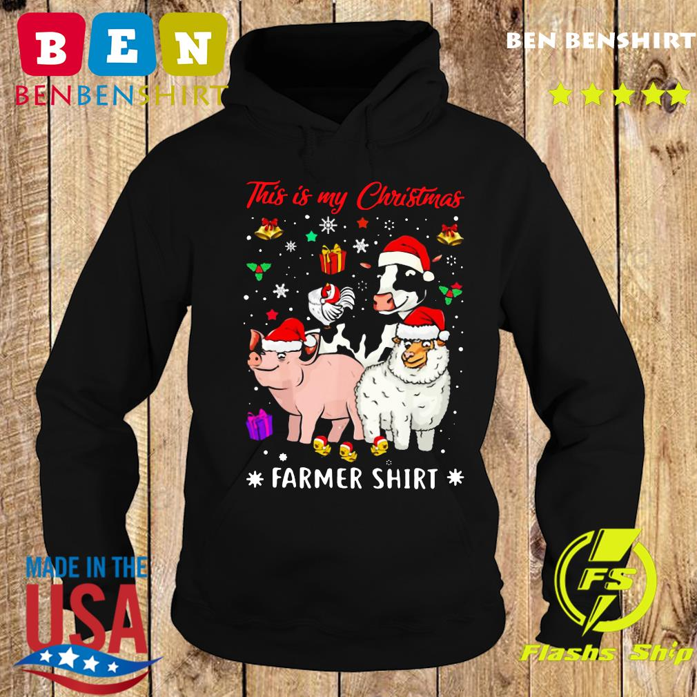 This Is My Christmas Farmer Cow Pig Sheep Sweats Hoodie