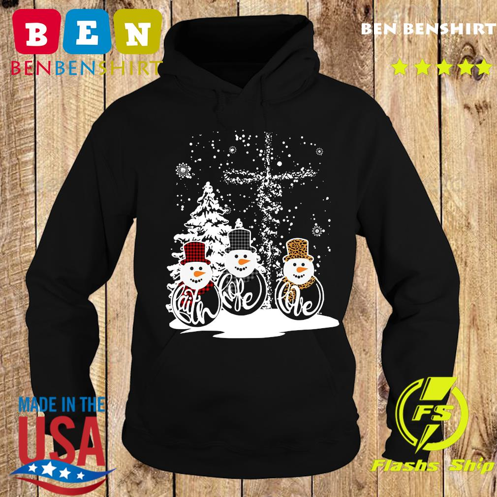 Three Snowman Merry Christmas Sweats Hoodie