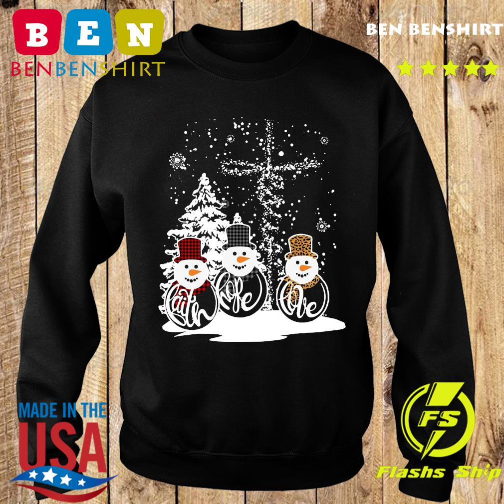 Three Snowman Merry Christmas Sweatshirt