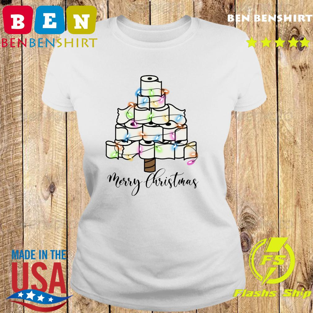 Toilet Paper Light Christmas Tree Merry Christmas Sweats Ladies tee