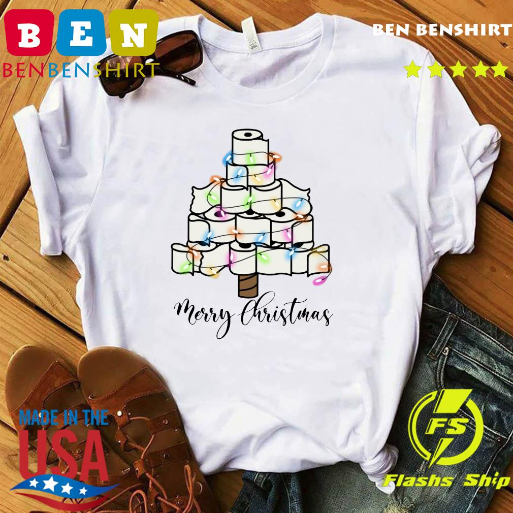 Toilet Paper Light Christmas Tree Merry Christmas Sweats Shirt