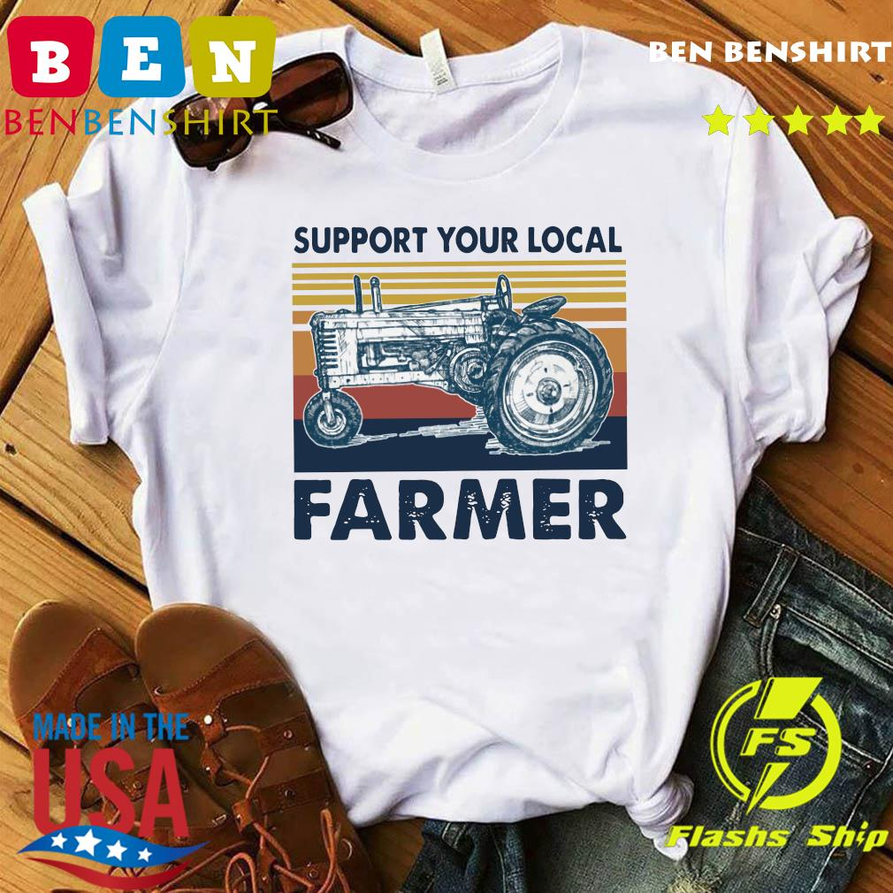 Vintage Support Your Local Farmer Classic T-Shirt