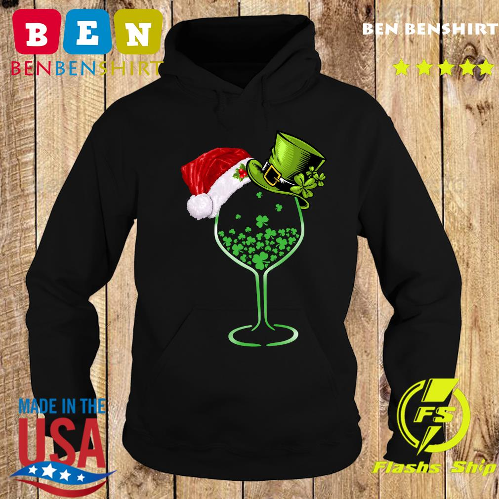 Wine St Patrick Hat Christmas Sweats Hoodie