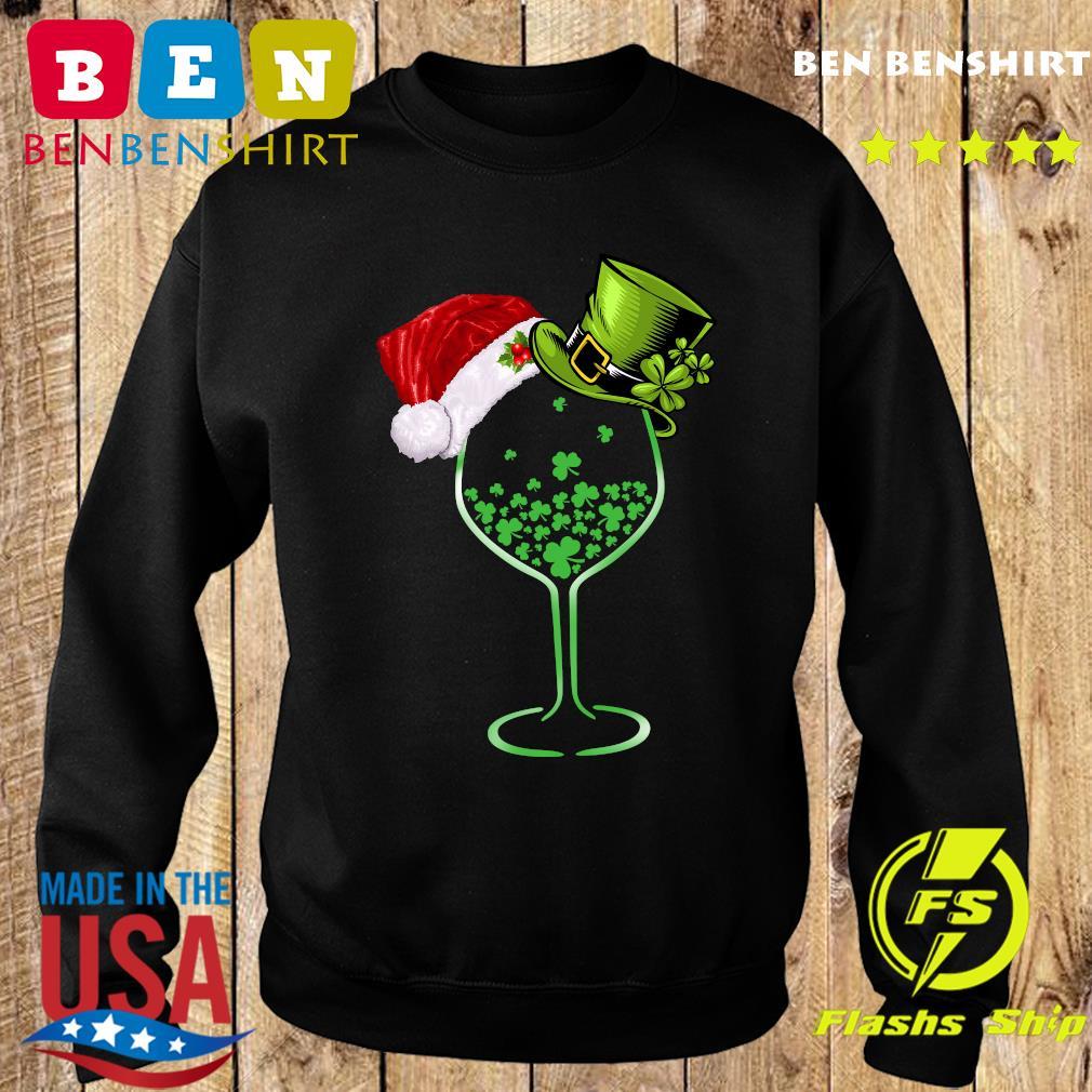 Wine St Patrick Hat Christmas Sweatshirt