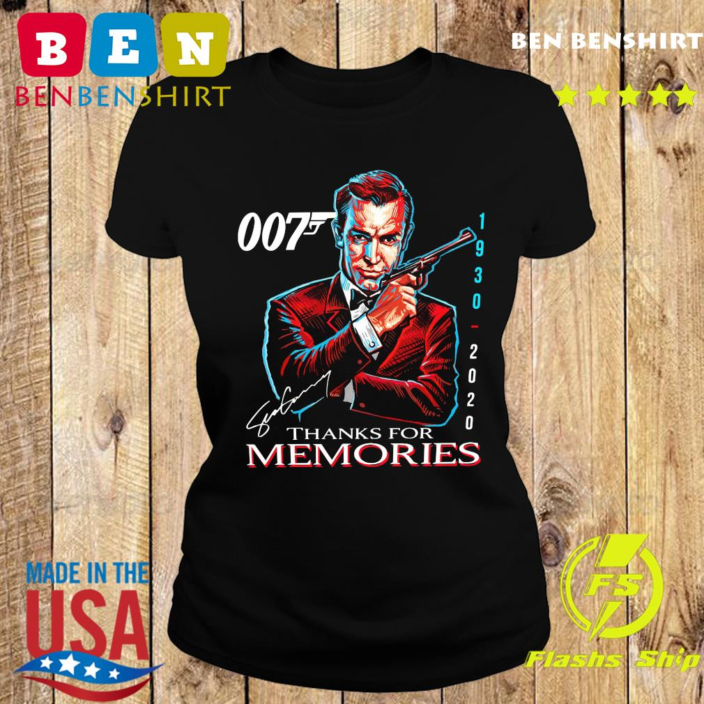 007 Sean Connery 1930 2020 Thank You For The Memories Signature Shirt Ladies tee