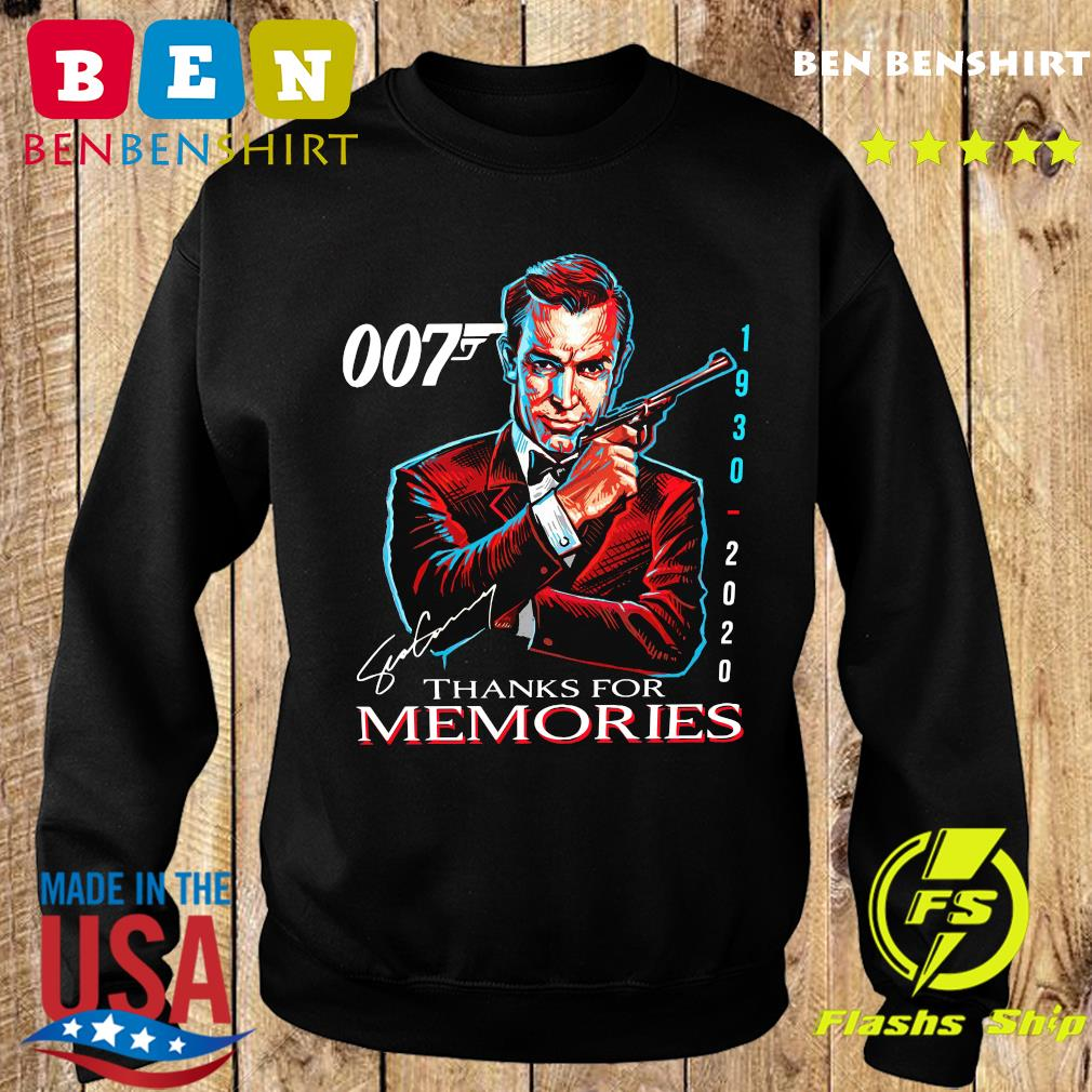 007 Sean Connery 1930 2020 Thank You For The Memories Signature Shirt Sweater